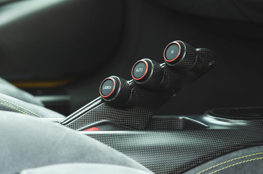 Ferrari 488 Pista 2019 road test review - gear select