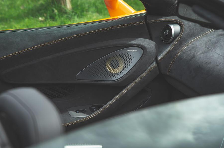 McLaren 600LT Spider 2019 road test review - speakers
