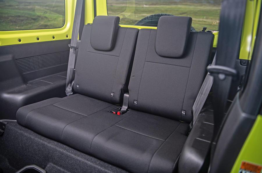 Suzuki Jimny 2018 road test review - rear seats