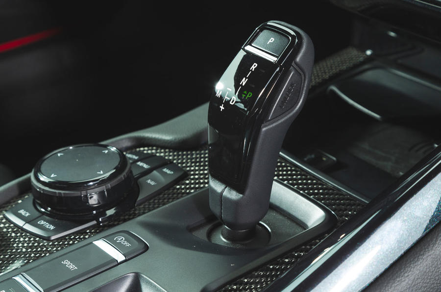Toyota GR Supra 2019 road test review - gearstick