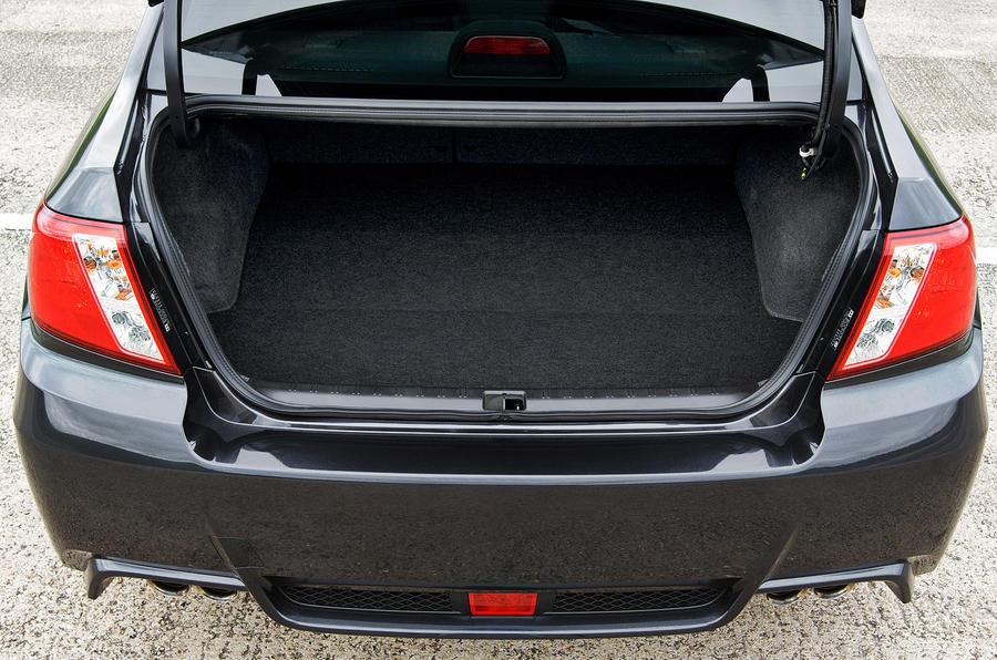 Subaru WRX STI 320R boot space