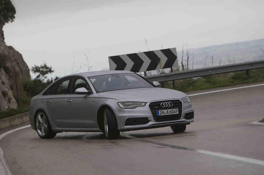 Audi A6 3.0 TDI quattro cornering