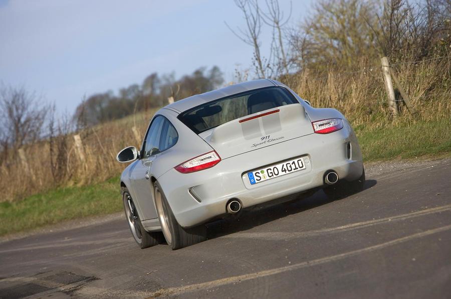 Porsche 911 Sport Classic rear cornering