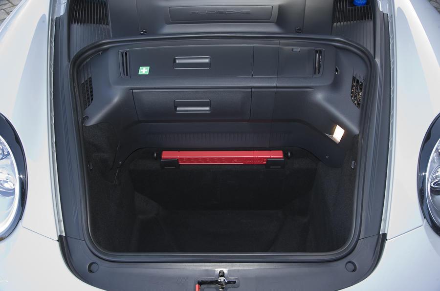 Porsche 911 Sport Classic boot space