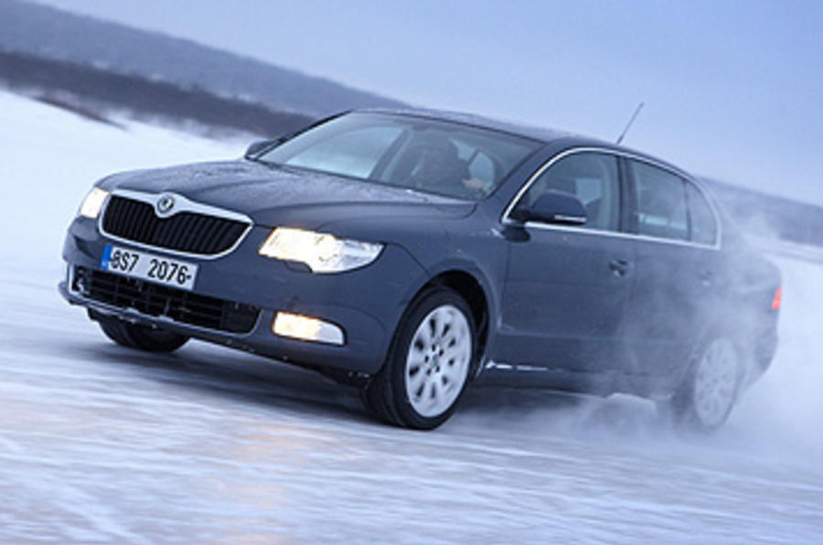 Skoda Superb drifting