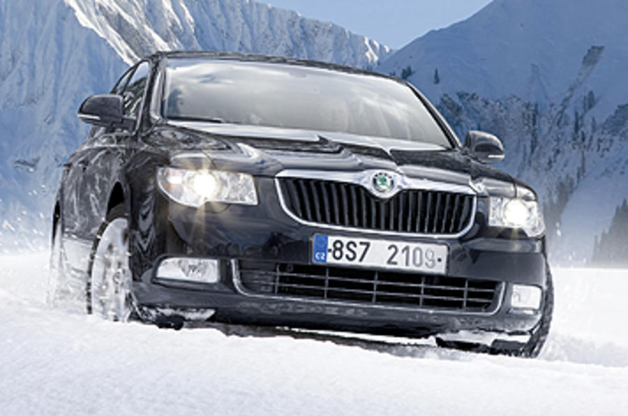Skoda Superb front end