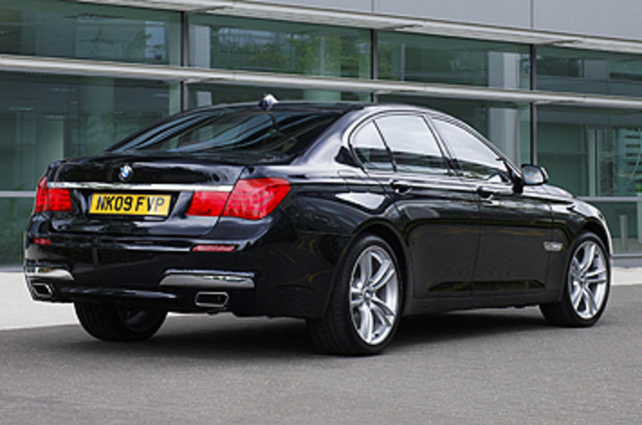 BMW 740d M Sport rear quarter