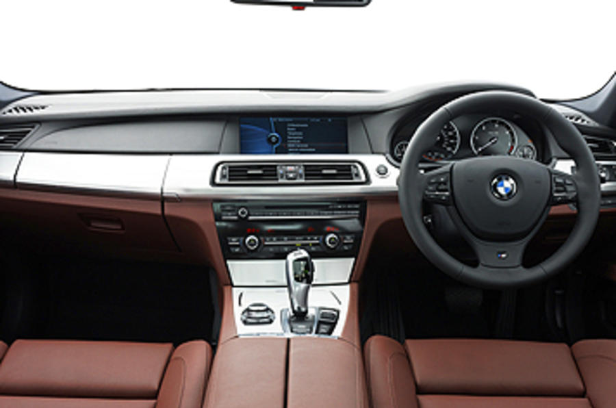 BMW 740d M Sport dashboard