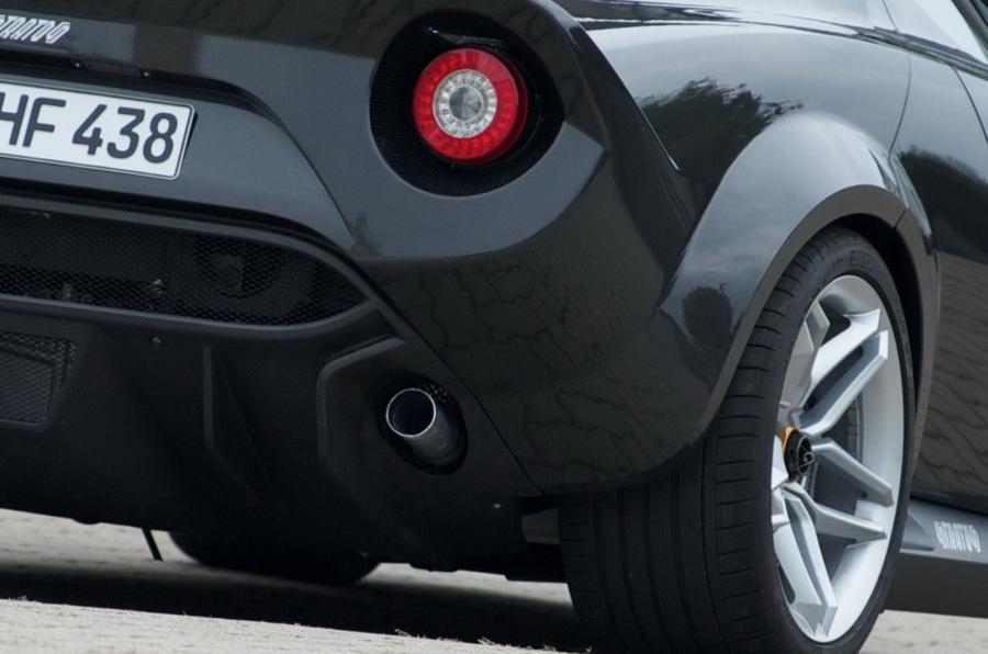 Lancia Stratos Concept exhaust system