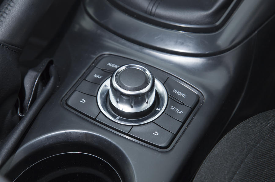 Mazda CX-5 infotainment controls