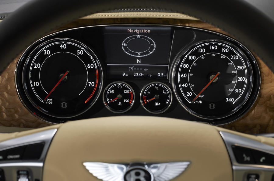 Bentley Continental GTC instrument cluster