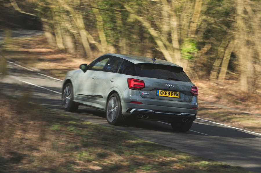 Audi SQ2 2019 road test review - cornering rear