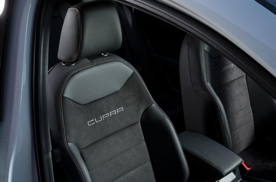 Cupra Ateca 2019 road test review - front seats