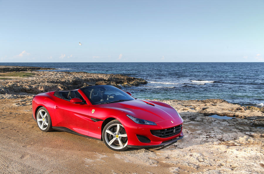 Ferrari Portofino review static beach