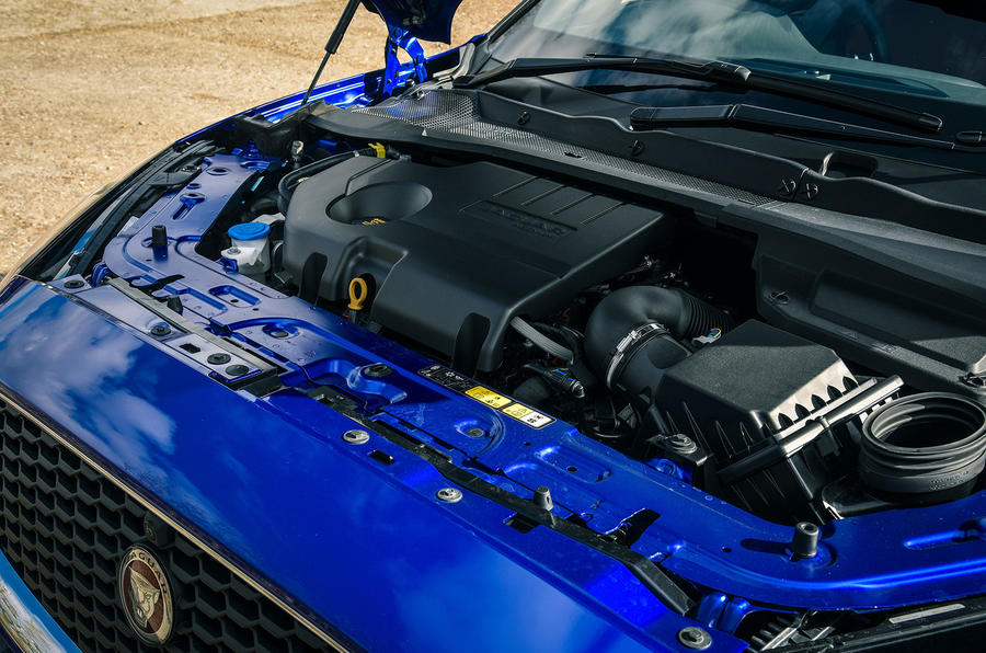 Jaguar E-Pace review engine