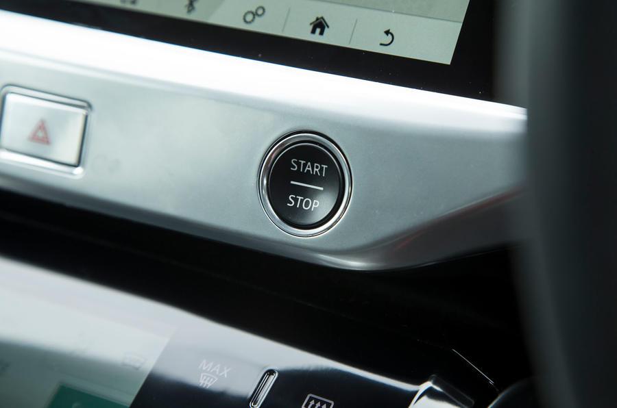 Jaguar I-Pace 2018 road test review start button