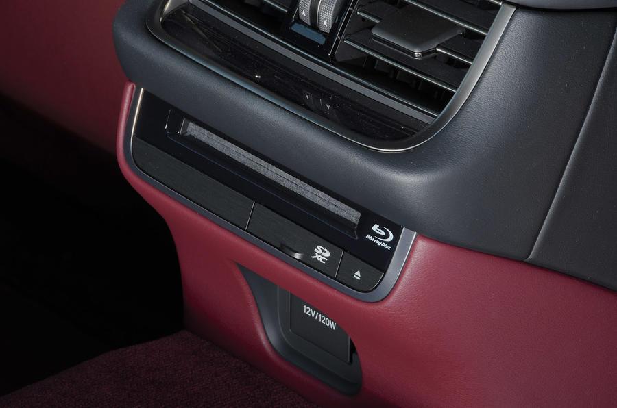 Lexus LS500h 2018 road test review centre console detail