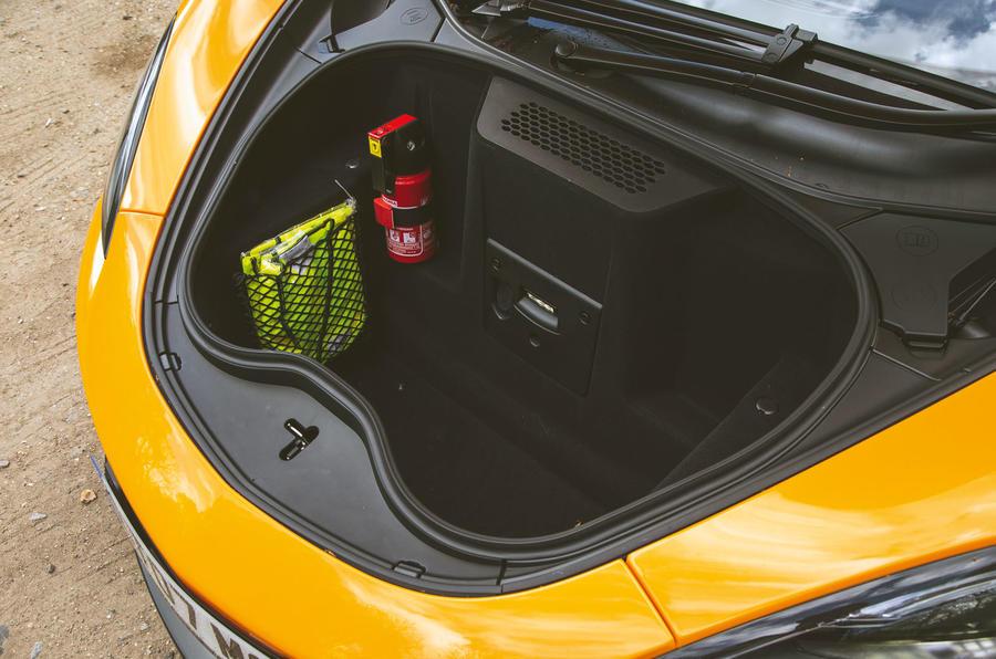 McLaren 600LT Spider 2019 road test review - boot