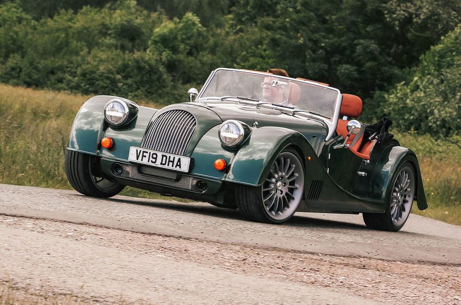 Morgan Plus Six 2019 road test review - cornering front
