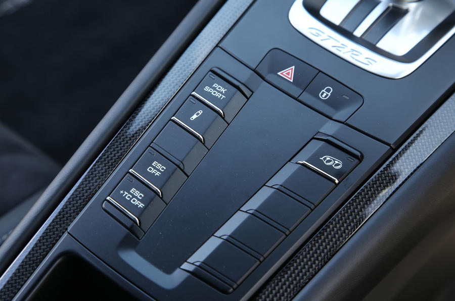 Porsche 911 GT2 RS 2018 road test review traction control button