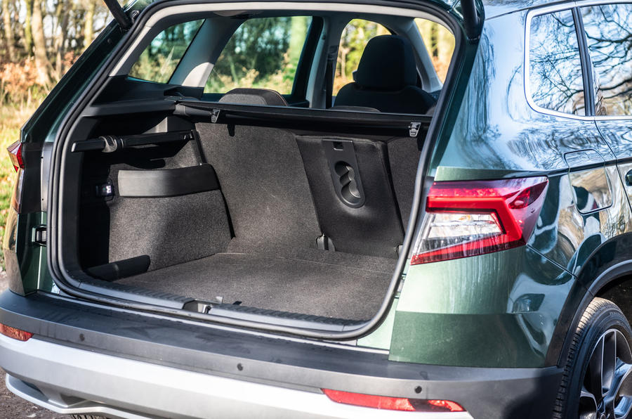 Skoda Karoq Scout 2019 road test review - boot