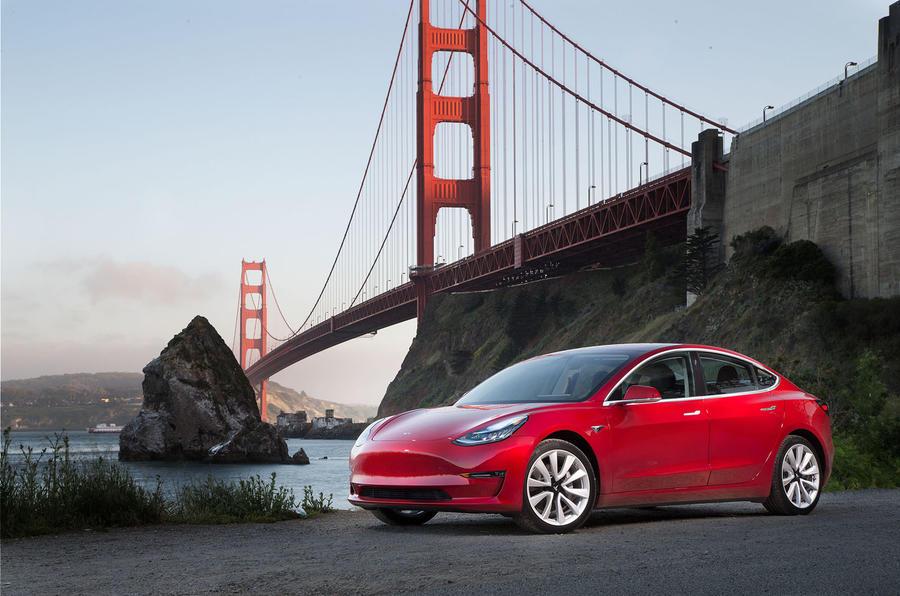 Tesla Model 3 2018 road test review hero static front