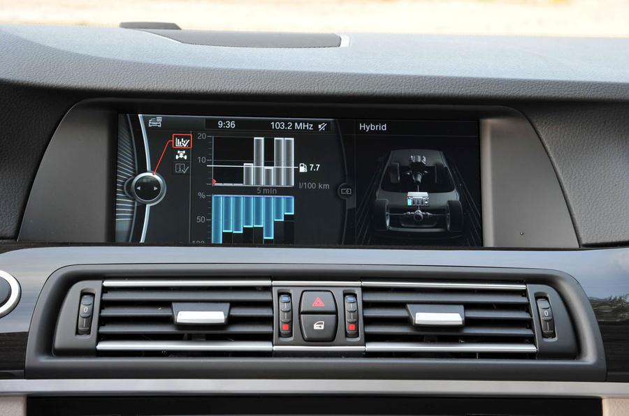 BMW Active Hybrid 5 infotainment