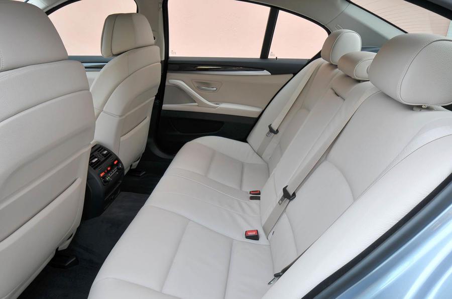 BMW Active Hybrid 5 rear seats