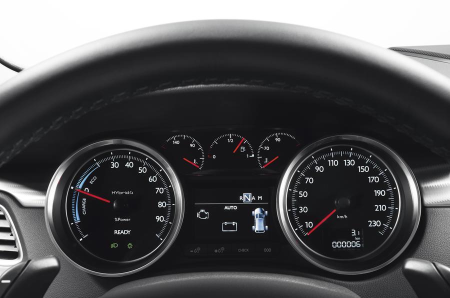 Peugeot 508 RXH instrument cluster