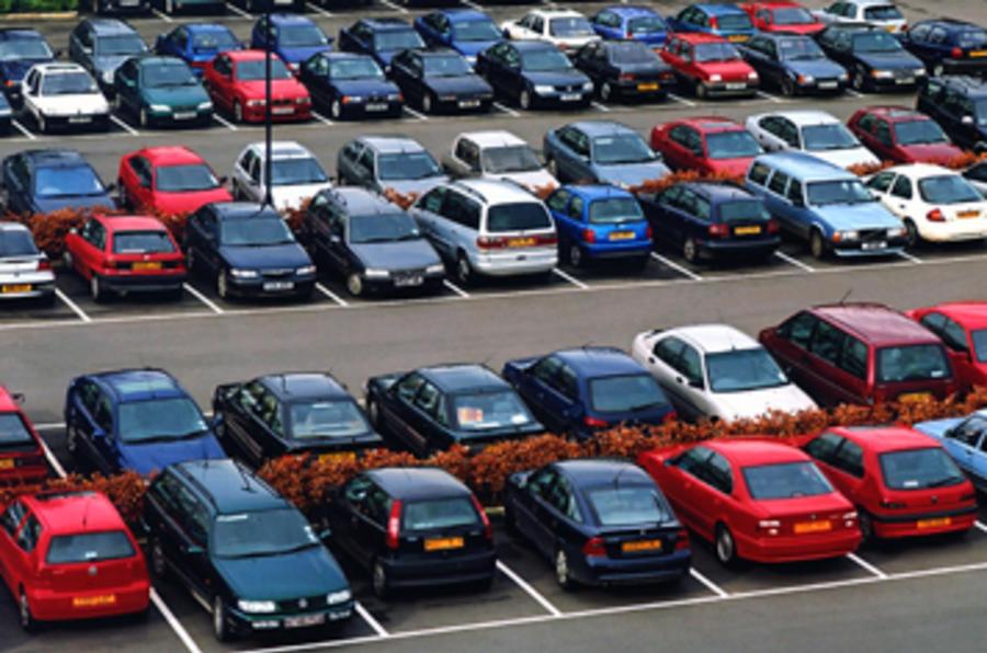 Fewer cars on UK roads