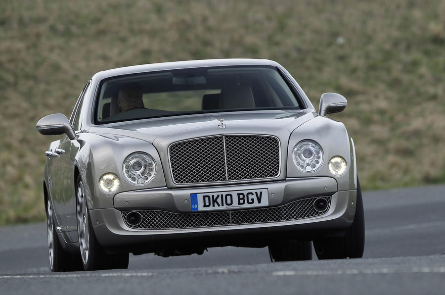 Bentley Mulsanne cornering