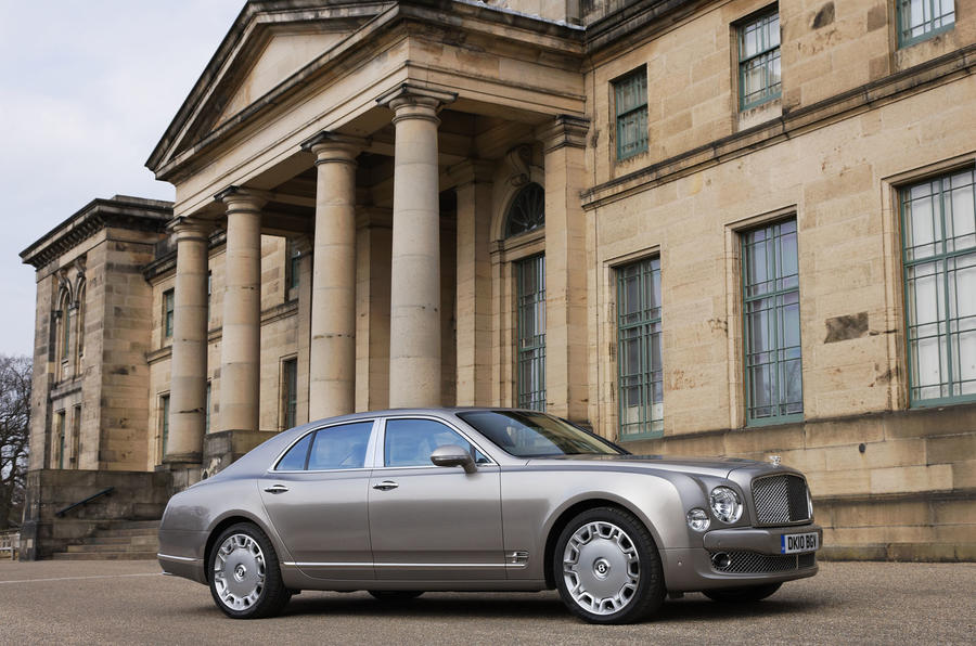 Bentley Mulsanne outside manor house