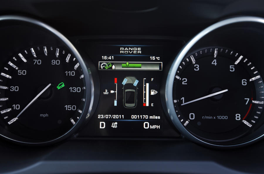 Range Rover Evoque Si4 instrument cluster
