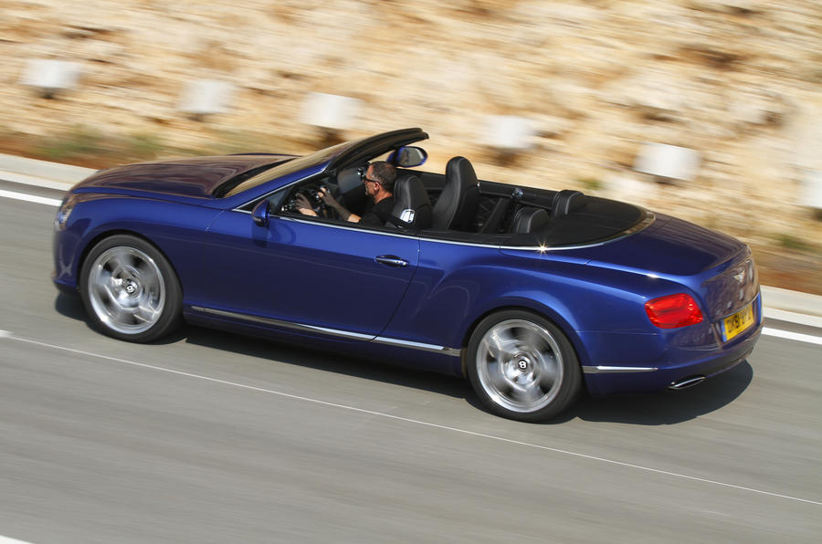Bentley Continental GTC roof down