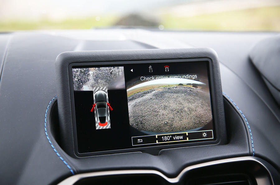 Aston Martin Vantage 2018 review infotainment parking cameras