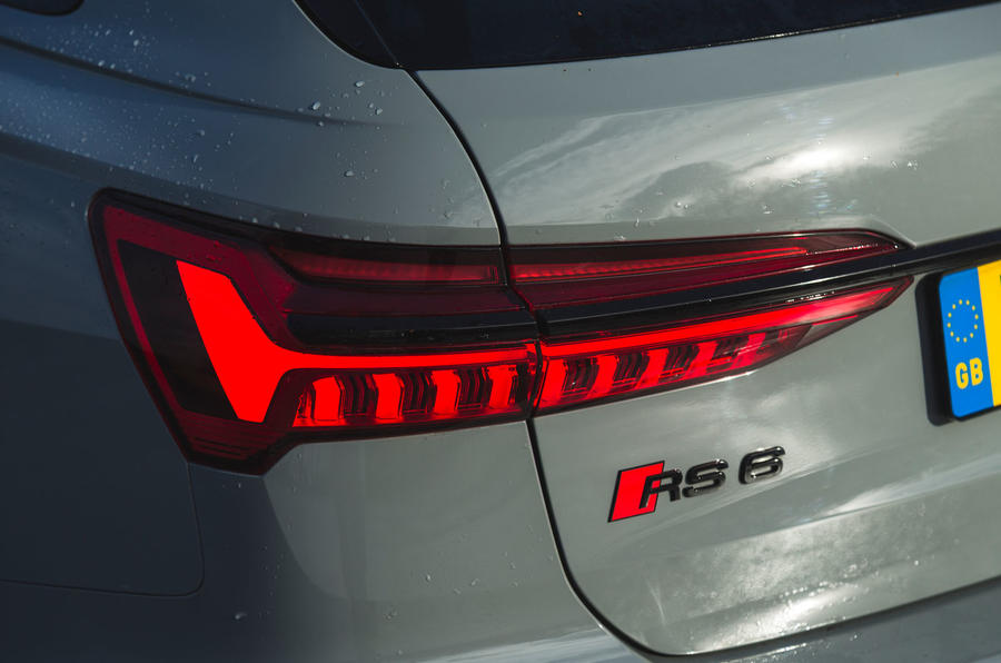 Audi RS6 Avant 2020 road test review - rear lights