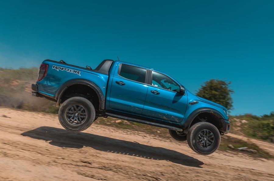 Ford Ranger Raptor 2019 road test review - jump side
