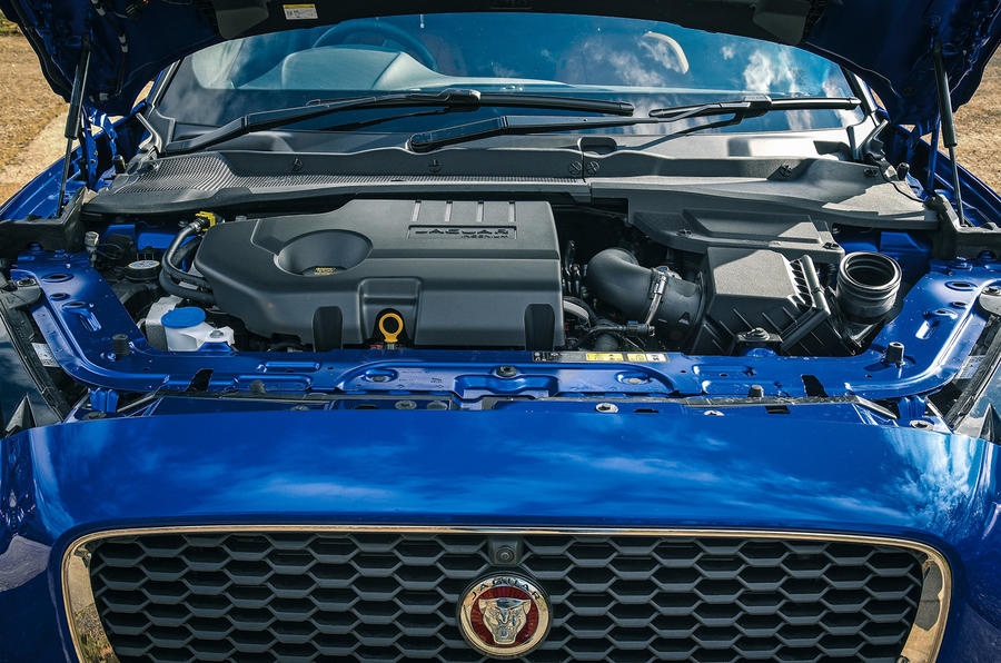 Jaguar E-Pace review engine front