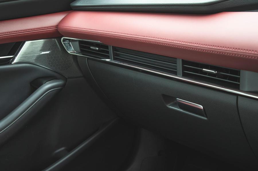 Mazda 3 Skyactiv-X 2019 road test review - glovebox