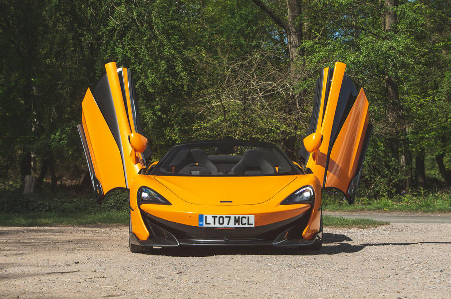 McLaren 600LT Spider 2019 road test review - doors