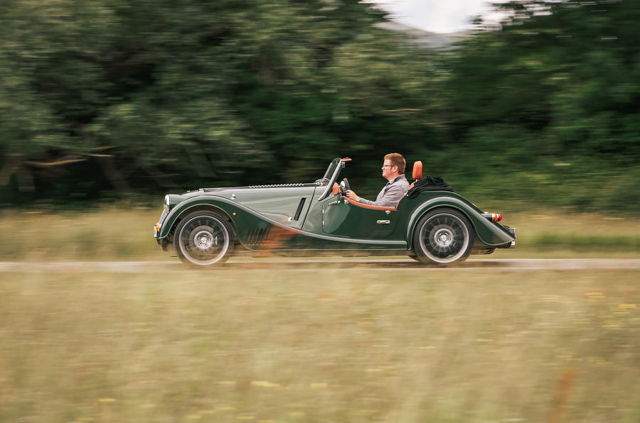 Morgan Plus Six 2019 road test review - on the road side