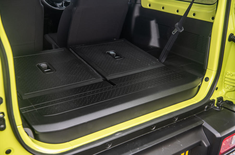 Suzuki Jimny 2018 road test review - boot space seats down