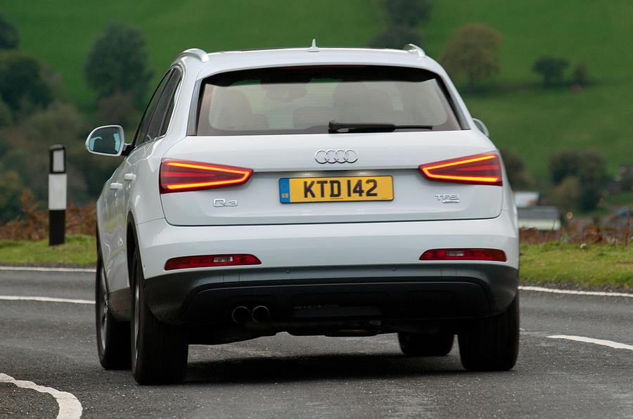 Audi Q3 rear cornering
