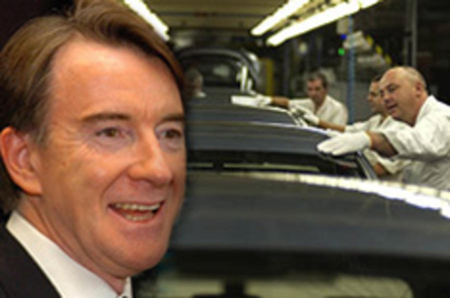 Mandelson: 'car support too slow'