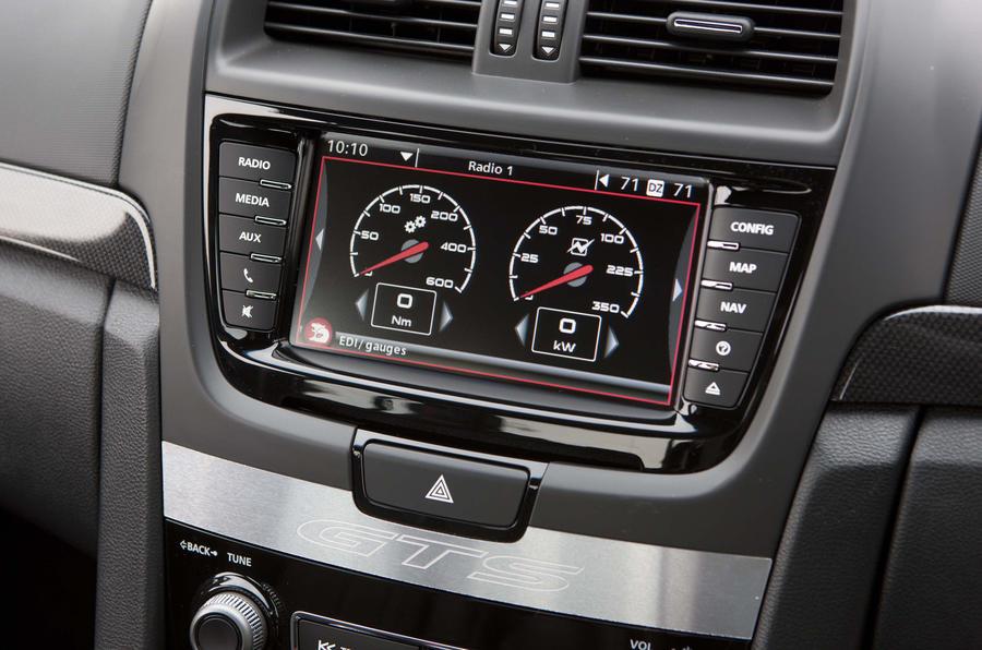 Vauxhall VXR8 GTS G-meter