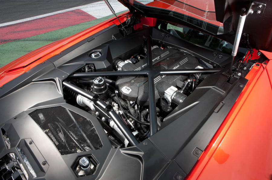 6.5-litre V12 Lamborghini Aventador engine