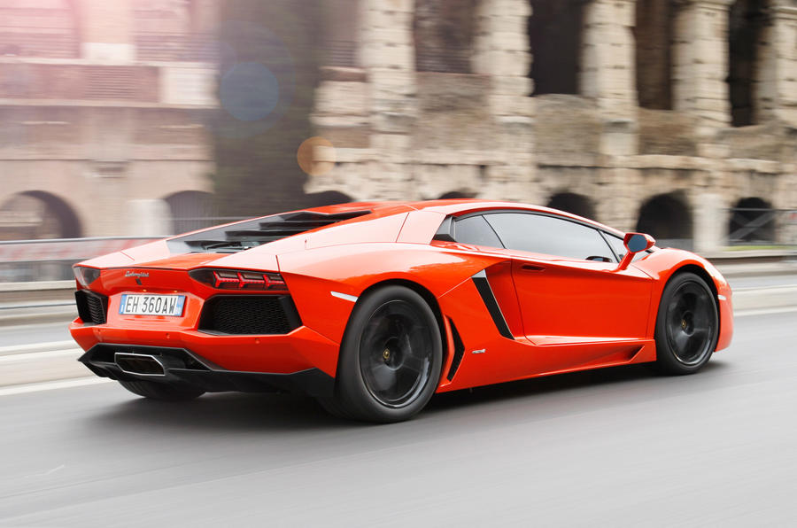 Lamborghini Aventador rear quarter