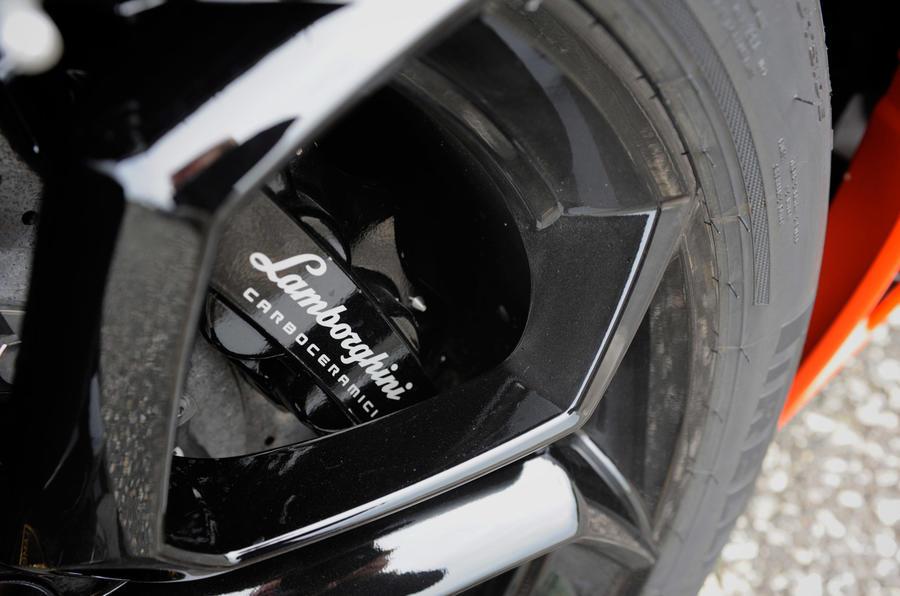 Lamborghini Aventador brake calipers