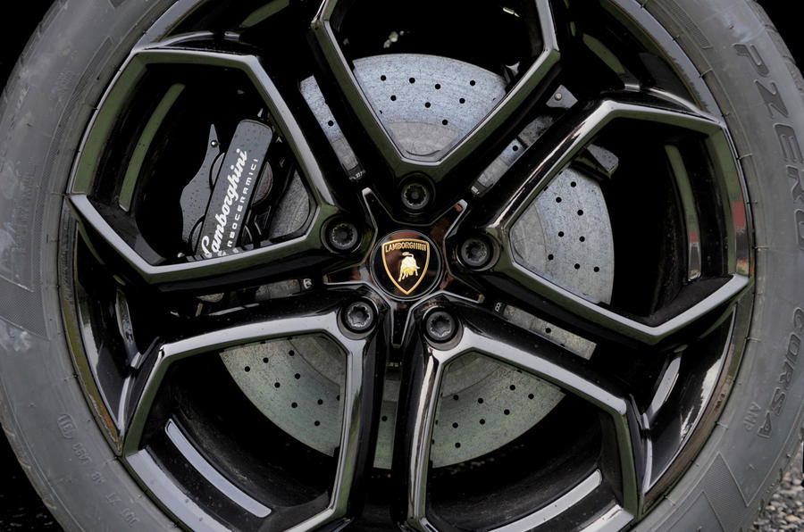 Lamborghini Aventador black alloys