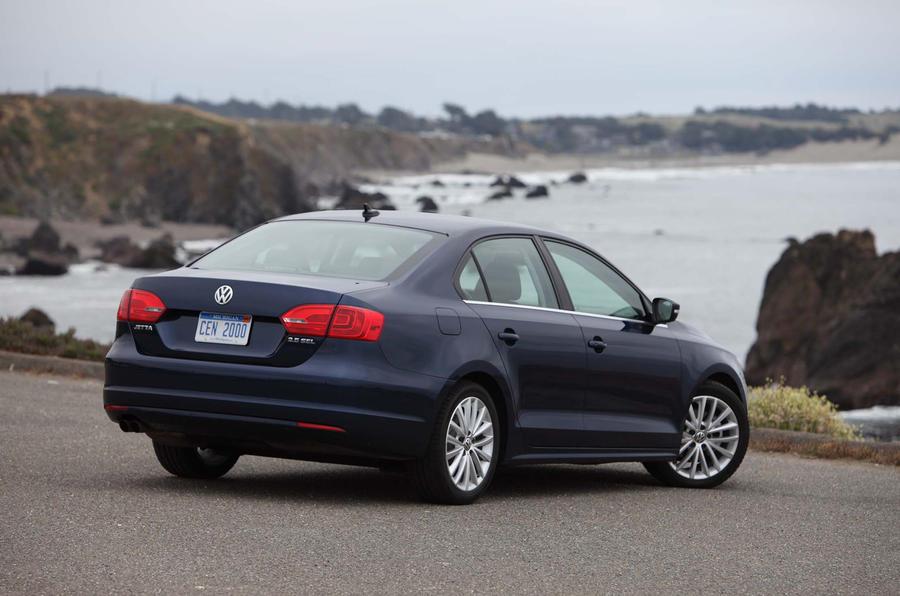 Volkswagen Jetta parked up